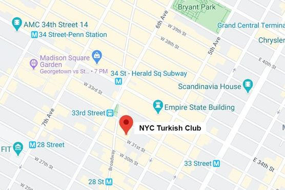 Turkish classes NYC map